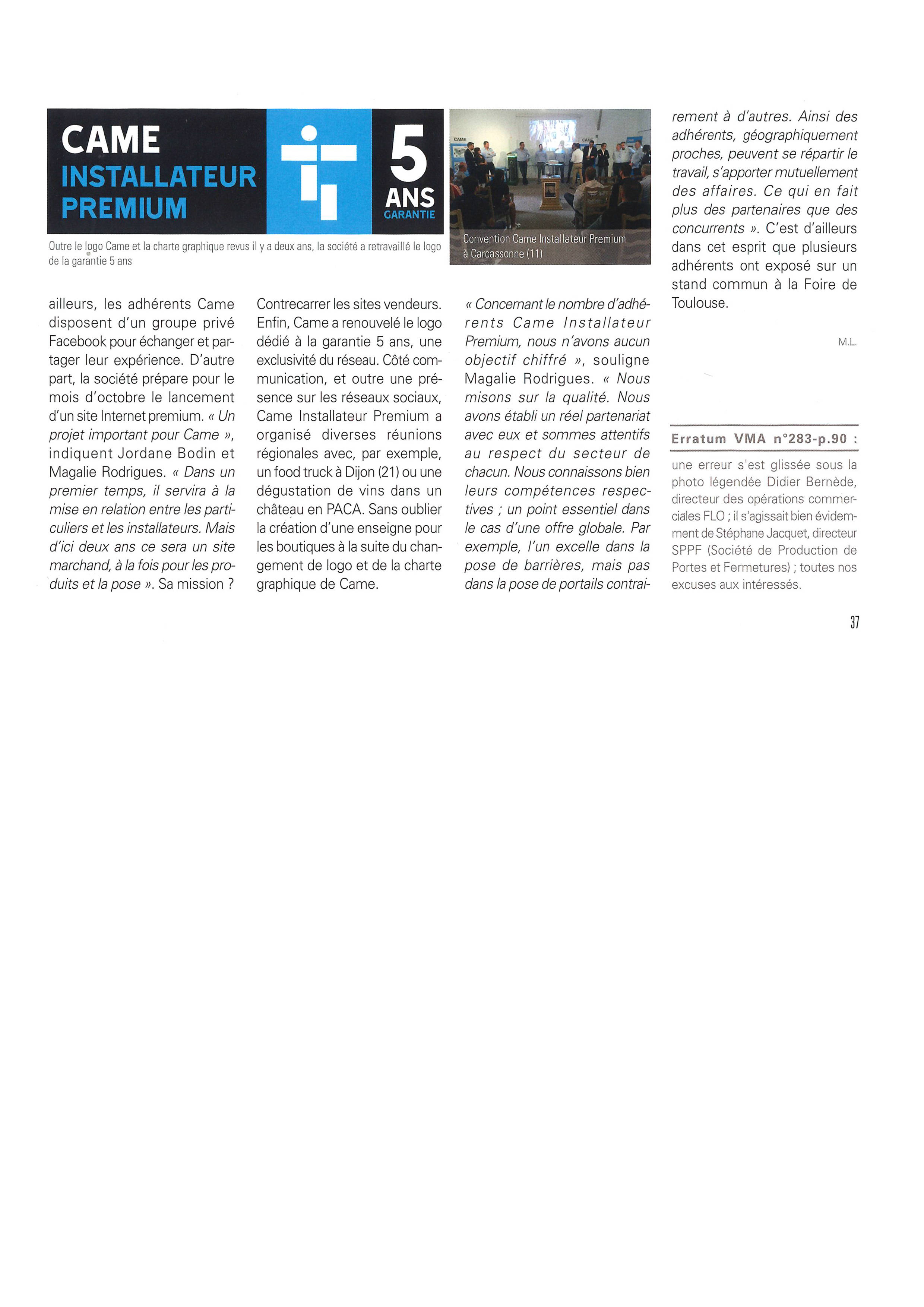 ARTICLE PRESSE 2 came dubard automatismes
