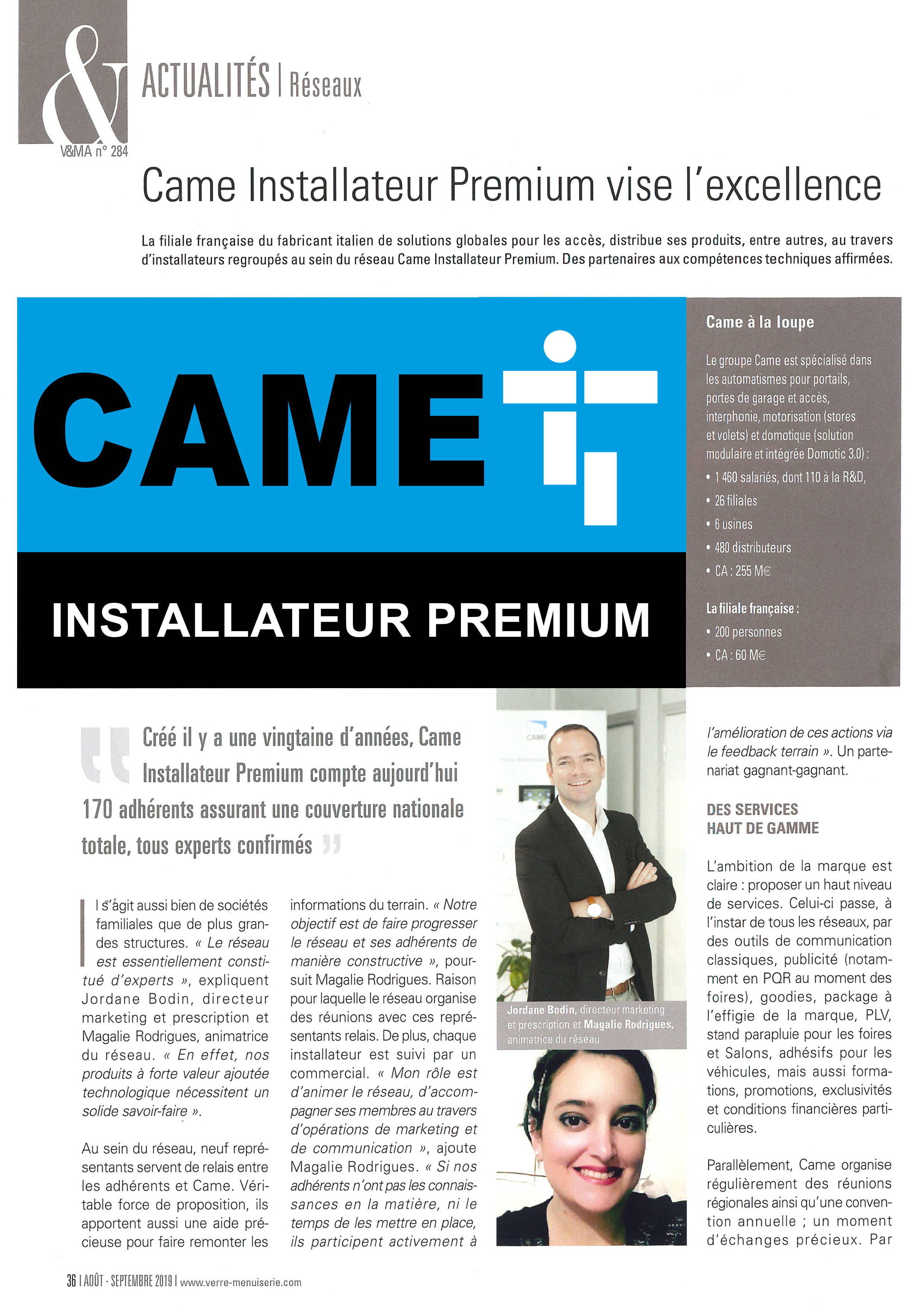 ARTICLE PRESSE came dubard automatismes